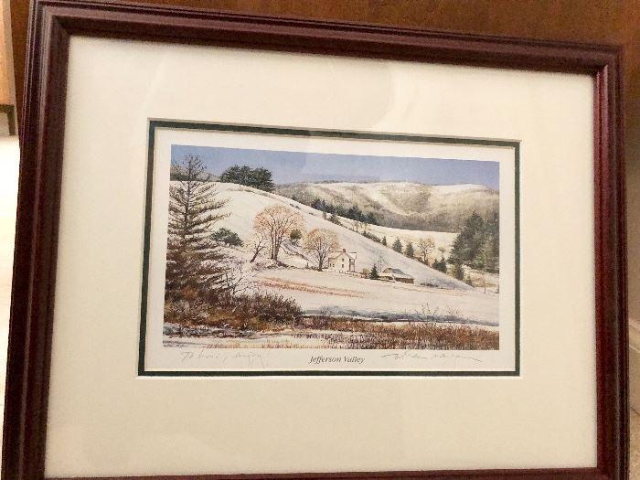 """William Mangum Print """"Jefferson Valley"""