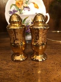 Hand Painted Pickard S&P Shakers