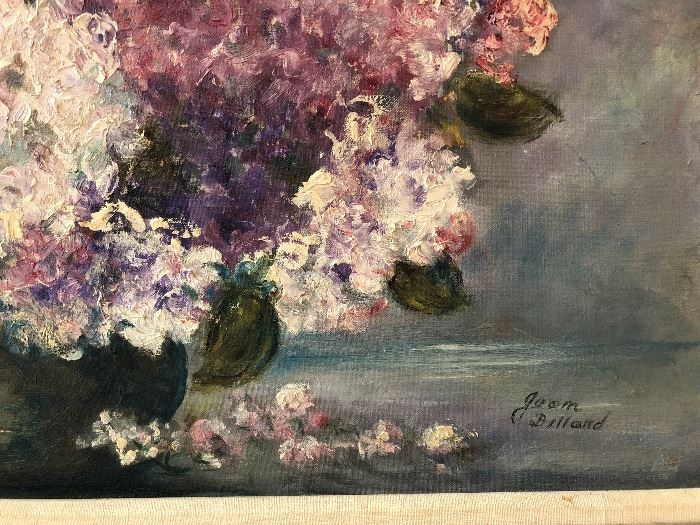 OOC floral art signed Dilland