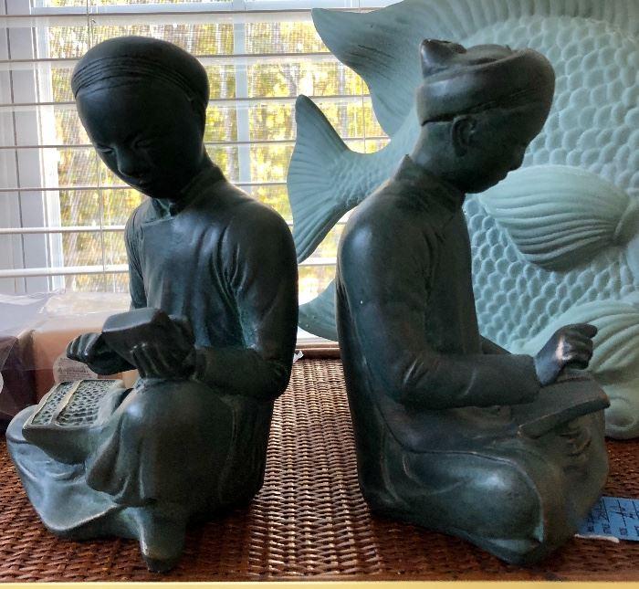 Auston Sculpture Mathematicians Bookends