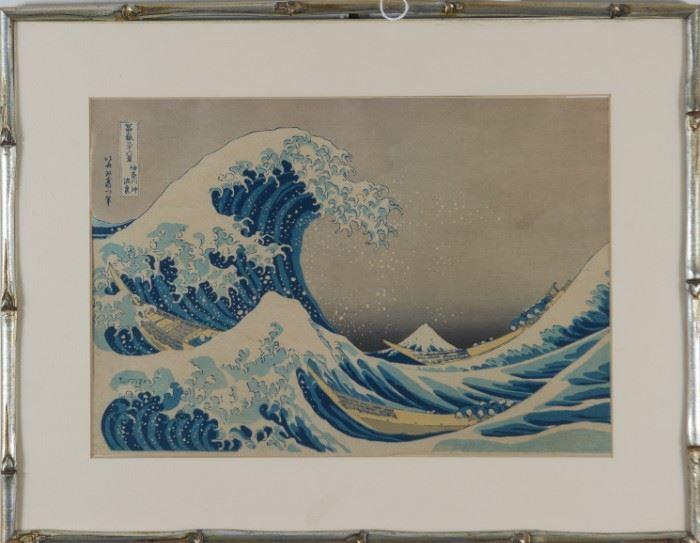 Hokusai Japanese Woodblock The Great Wave