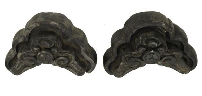 (2) Architectural Roof Finials, Japanese