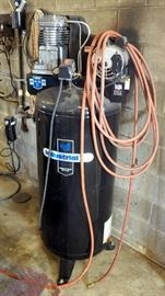 Industrial Air Compressor, 60 Gal, 130 Max PSI, Model IL3106016 Includes One Pneumatic Hose
