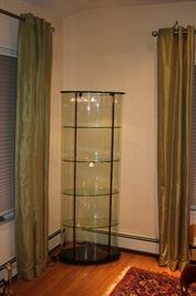 Oval Glass Curio Cabinet