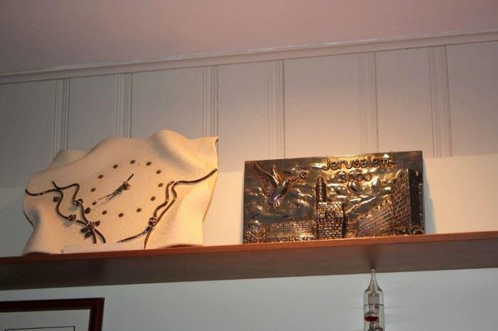 Decorative Clock and Plaque
