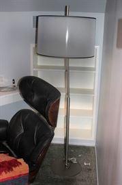 Chair/Ottoman with Floor Lamp