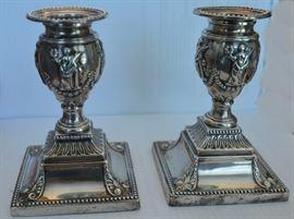 Candlesticks Silver 1850s