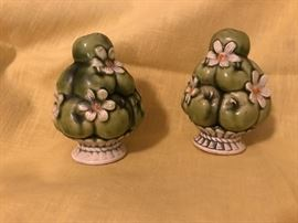 Ceramic Topiary Salt & Pepper Shakers   7.50 (set)