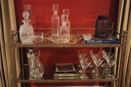 Decanters, Stemware, Books and more