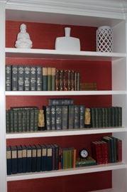 Decorative Items, Clock and Books