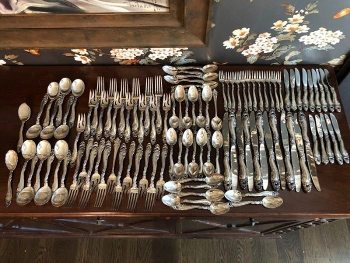 Gorham Sterling Flatware (service for 12) and Serving Pieces