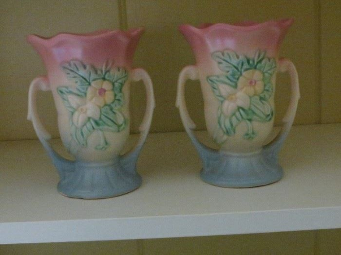 HULL POTTERY VASES.
