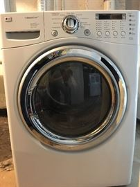 LG STEAM WASHER AND DRYER.  HIGH END STUFF AND IN GREAT SHAPE.  BRING HELP TO LOAD.
