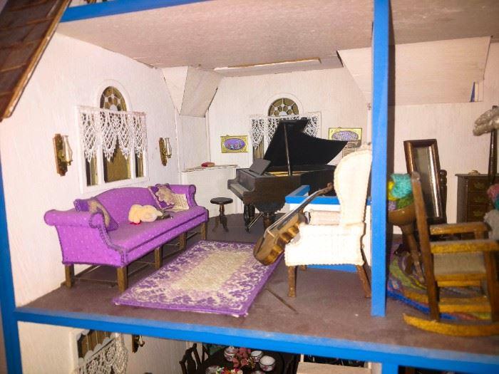 Doll house music room