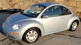 At 8PM: 2010 Volkswagen Beetle | 81,200 Miles; Automatic Transmission; Silver Exterior, Black Leather Interior; AM/FM Stereo with CD; Power Everything; Dual Airbags; Cruise Control; Air Conditioning; AM/FM Stereo with CD; Showroom Clean! | VIN: 3VWPW3AG2AM005044
