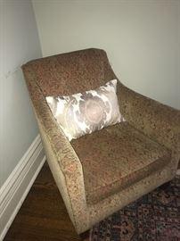 Chenille club chair $285