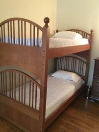Twin bunk beds $400 Dresser $75