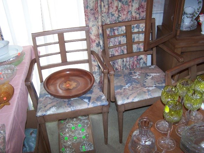 TWO HOST CHAIRS TO DINING SET