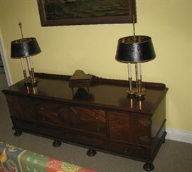 Credenza and Stiffel lamps
