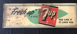 Nice 1950s 7up sign!