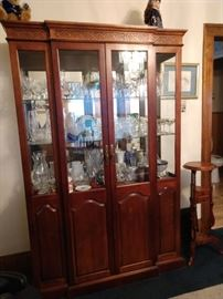 China cabinet, plant stand. art