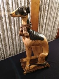 Awesome greyhound statue