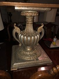 James Mont ? Silver gilt wood urn base