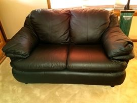 Gorgeous leather loveseat - almost brand new!