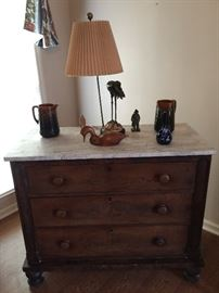 Empire chest w/ marble top