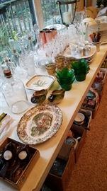 Lots of smalls. Vintage barware. Home decor. Some bargains by the box lot.