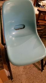 Krueger fiberglass stacking chairs. More colors available.