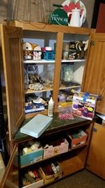 Craft supplies. Cabinets for sale