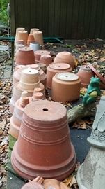 Clay pots in all sizes