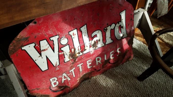 Goshen sign that survived the tornado. Found in a field several miles from the company