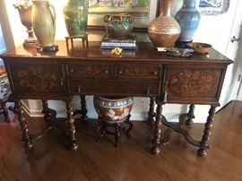 Beautiful inlaid buffet/server.