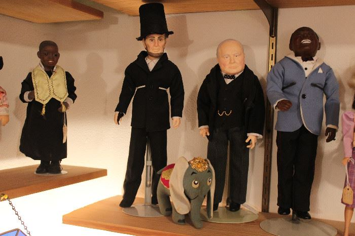 Effanbee Abraham Lincoln, Winston Churchill, Louie Armstrong