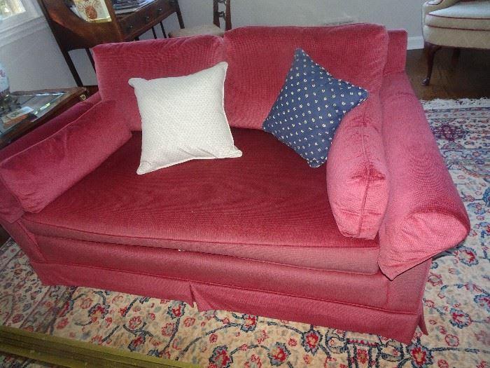 Two Velvet Love Seats