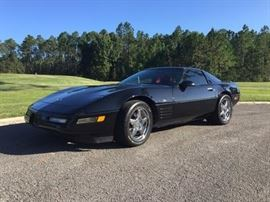 1993 Chevrolet Corvette  40 Year Anniversary Black w/ Red Leather Interior.  Automatic, 53k Miles, Great Shape.