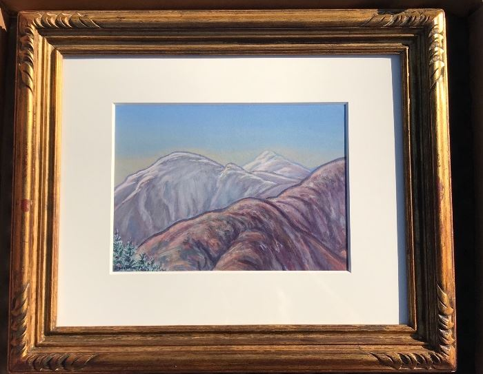 "Harold Weston Original Gouache Adirondacks 10"" x 13"""