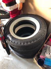 Classic car white wall tires, new