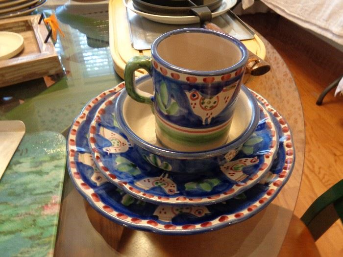 love this colorful set of china