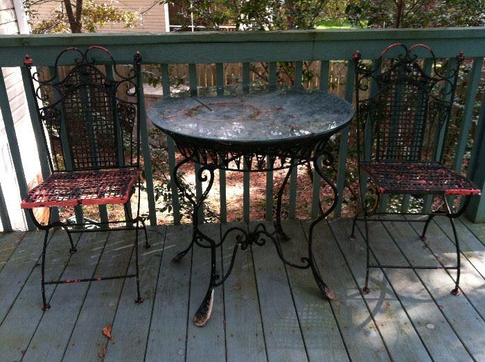 Vintage wrought iron set