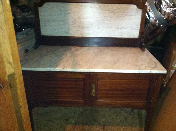 Marble top dry sink