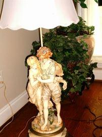Large Figurine Lamp
