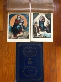 Vintage Madonna art prints. The Illustrated London News Coronation book from 1953.