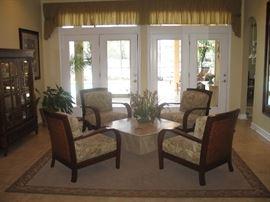 Jamaica Chairs & Italian Marble Table