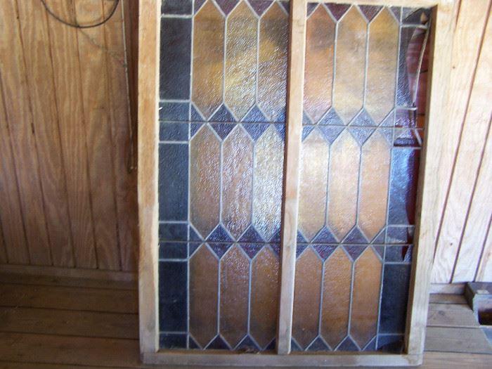 "40"" x 50"" stained glass window"