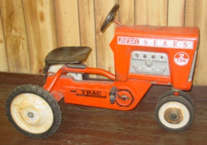 Vintage Sears Metal Pedal Tractor