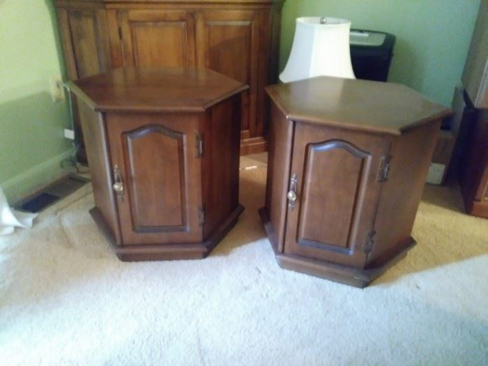 matching end tables with storage