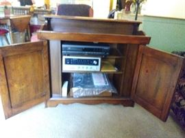 dry sink with stereo storage-electronics are for sale